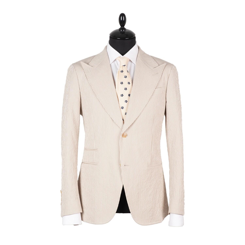 Однобортный пиджак из сирсакера (жатого хлопка)
