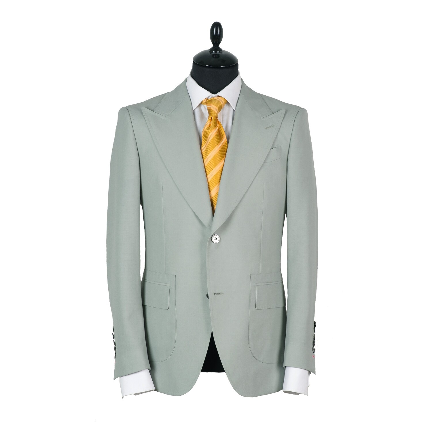 Green single breasted suit. Havana collection