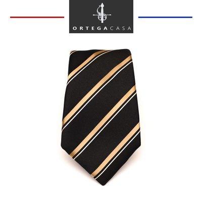 """Черный галстук с золотой полоской """"Ambassador"""""""