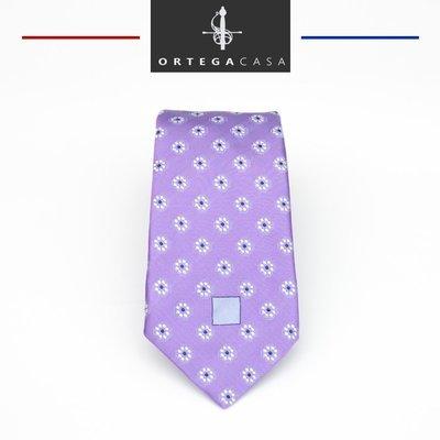 """Сиреневый галстук """"Verona"""" с цветочным орнаментом."""