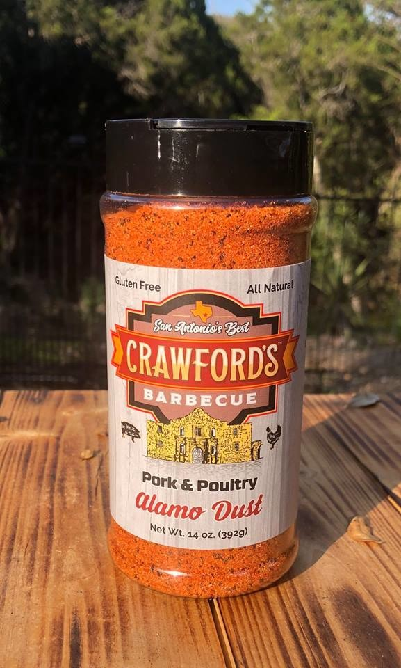 Crawfords BBQ- Pork & Poultry- Alamo Dust