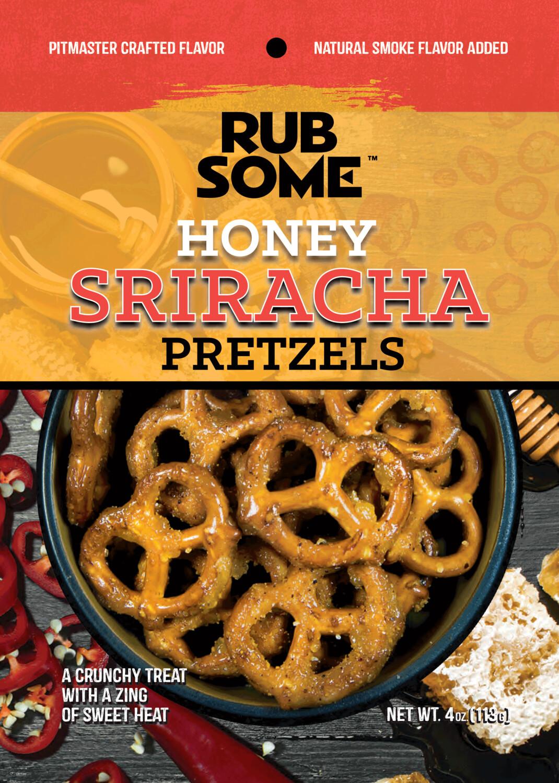 Rub Some Honey Sriracha Pretzels