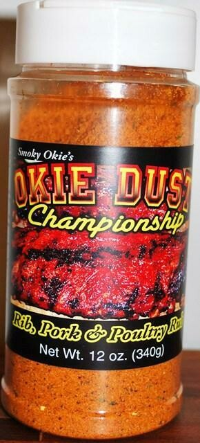 Smoky Okie's Okie Dust Rib Pork and Poultry Seasoning, 12 oz