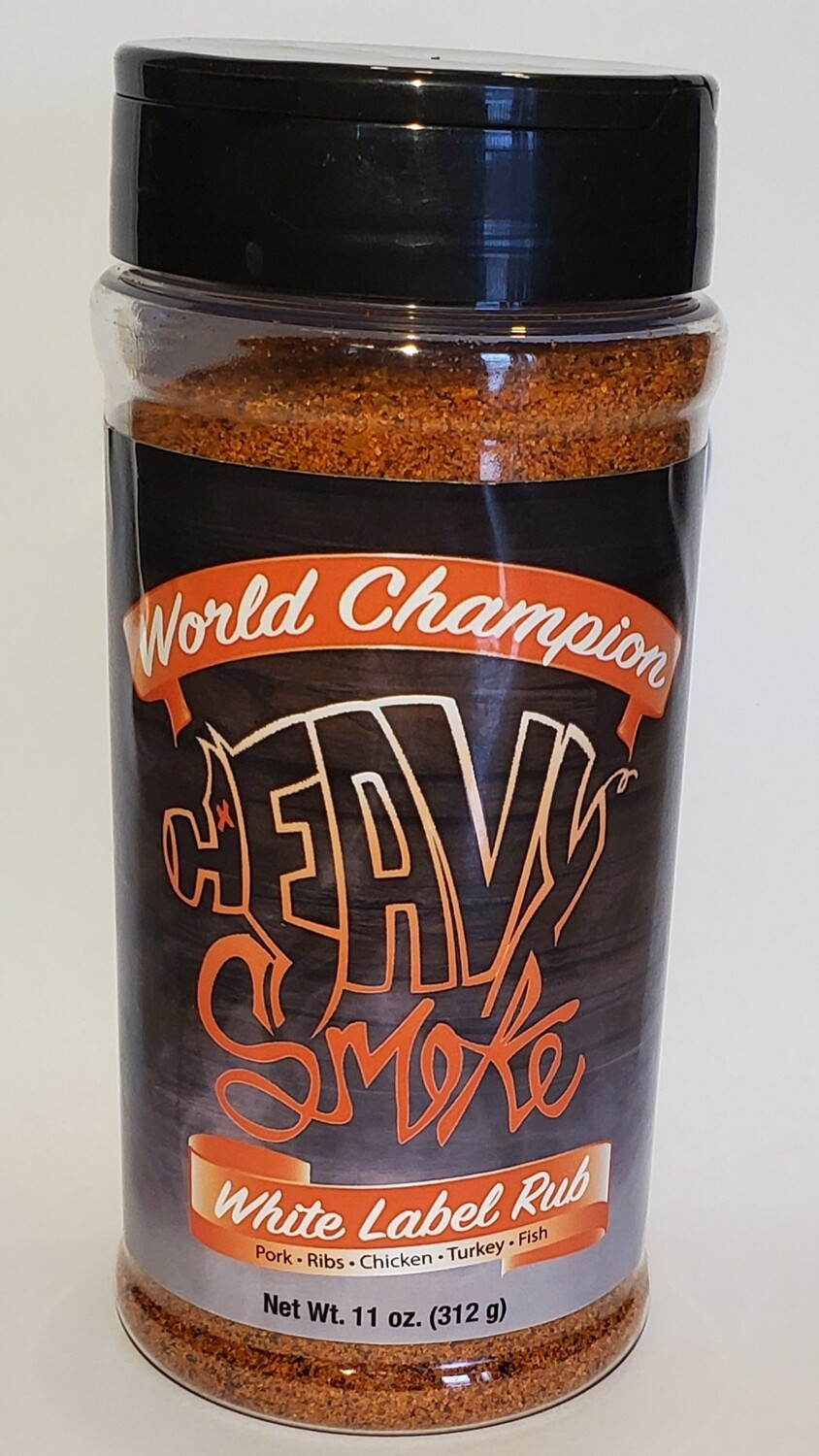 Heavy Smoke- White Label Rub- 11oz