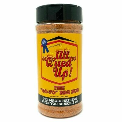 "All Qued Up – The ""GO-TO"" BBQ Rub"