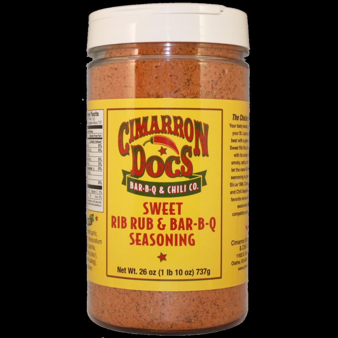 Cimarron Doc's Sweet Rib Rub & Bar-B-Q Seasoning 1 lb. 10 oz.