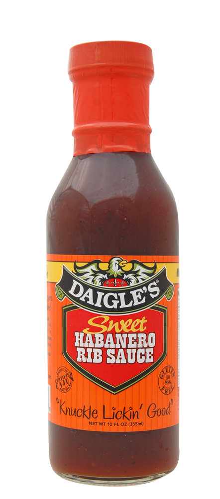 Daigle's Sweet Habanero Rib Sauce 12 oz