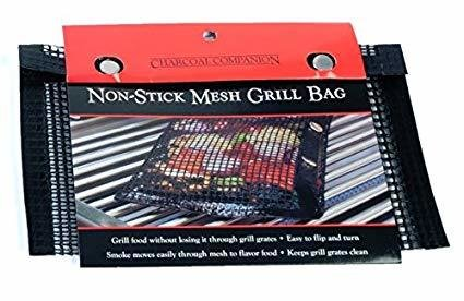 Charcoal Companions-Nonstick Mesh Grilling Bag-Small