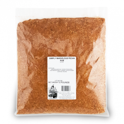 Simply Marvelous- Pecan Rub- 5lb Bag