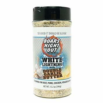 Boars Night Out- White Lightning with Double Garlic Butter