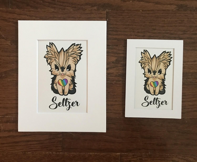 Seltzer Rainbow Heart Print