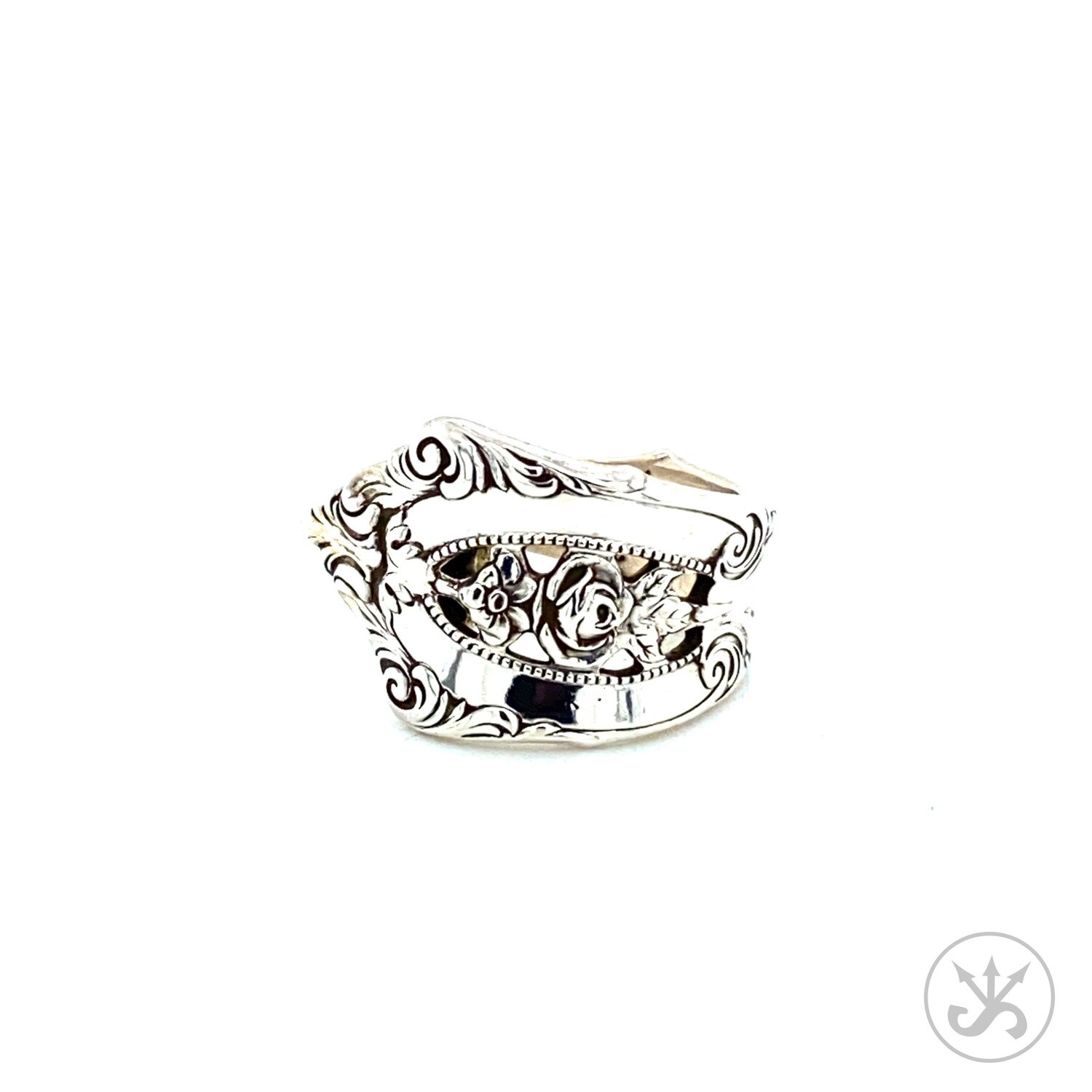 Rose Point Sterling Silver Spoon Ring