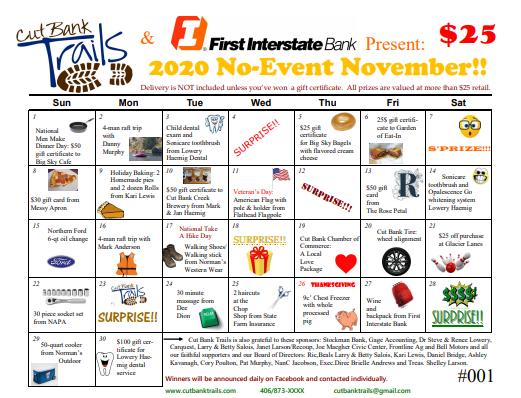 No-Event November - Raffle Calendar