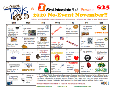 No-Event November - Raffle Calendar