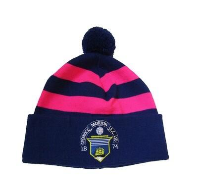 Morton Pom Pom Hat (Pink & Navy)