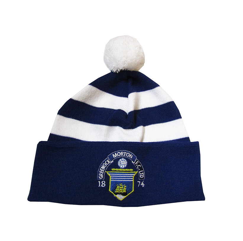 Morton Pom Pom Hat (Royal & White)