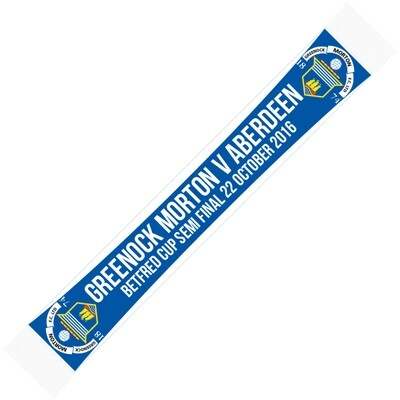 Morton 'Bet Fred Cup Semi-Final Scarf'