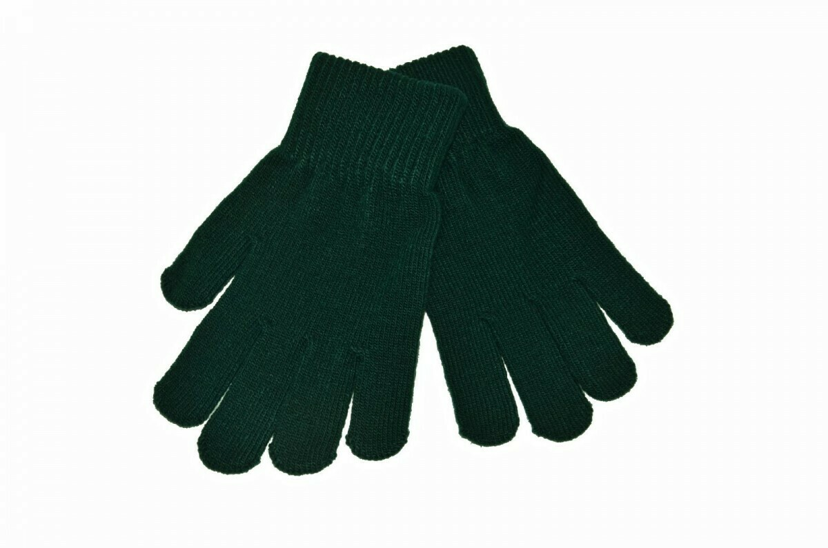 'Wool' Glove in Bottle Green
