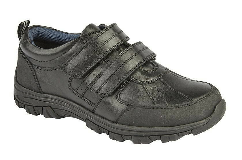 Double Velcro Leather Shoe (Size 9 to 4) (RCSB697A)