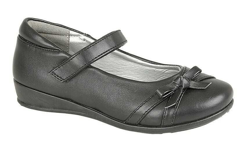 Girls Bar Shoe in Black Matt (Size 8 - Size 2) (RCSC788A)