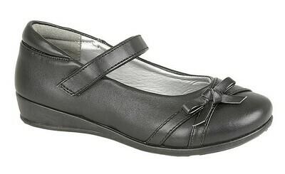 Girls Bar Shoe in Black Matt (Size 8 - Size 2) (RCSC788A)