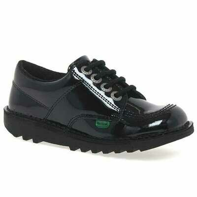 Kickers 'Kick Lo' Lace in Black Patent
