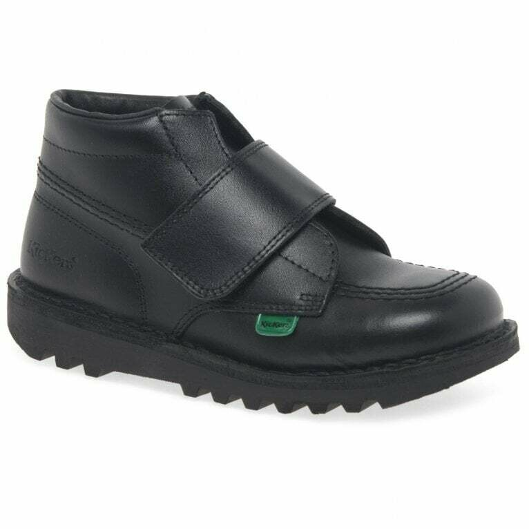 Kickers 'Kick High Kilo' in Black Leather