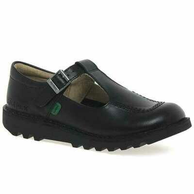Kickers 'Kick T I' in Black Matt Leather