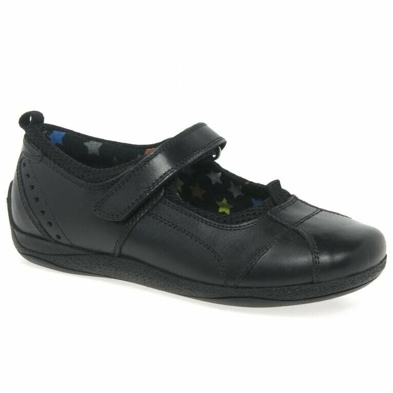 Hush Puppies 'Cindy' in Black Leather