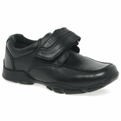 Hush Puppies 'Freddy' in Black Leather