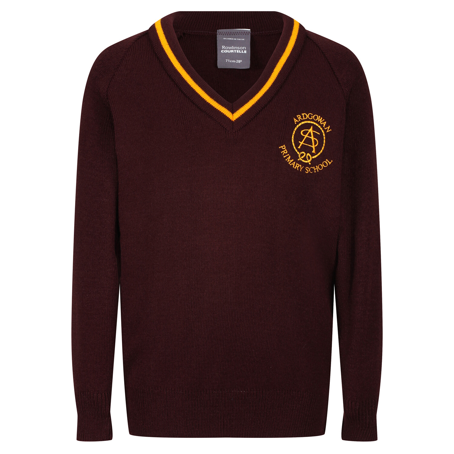 Ardgowan Primary Knitted V-neck with stripe