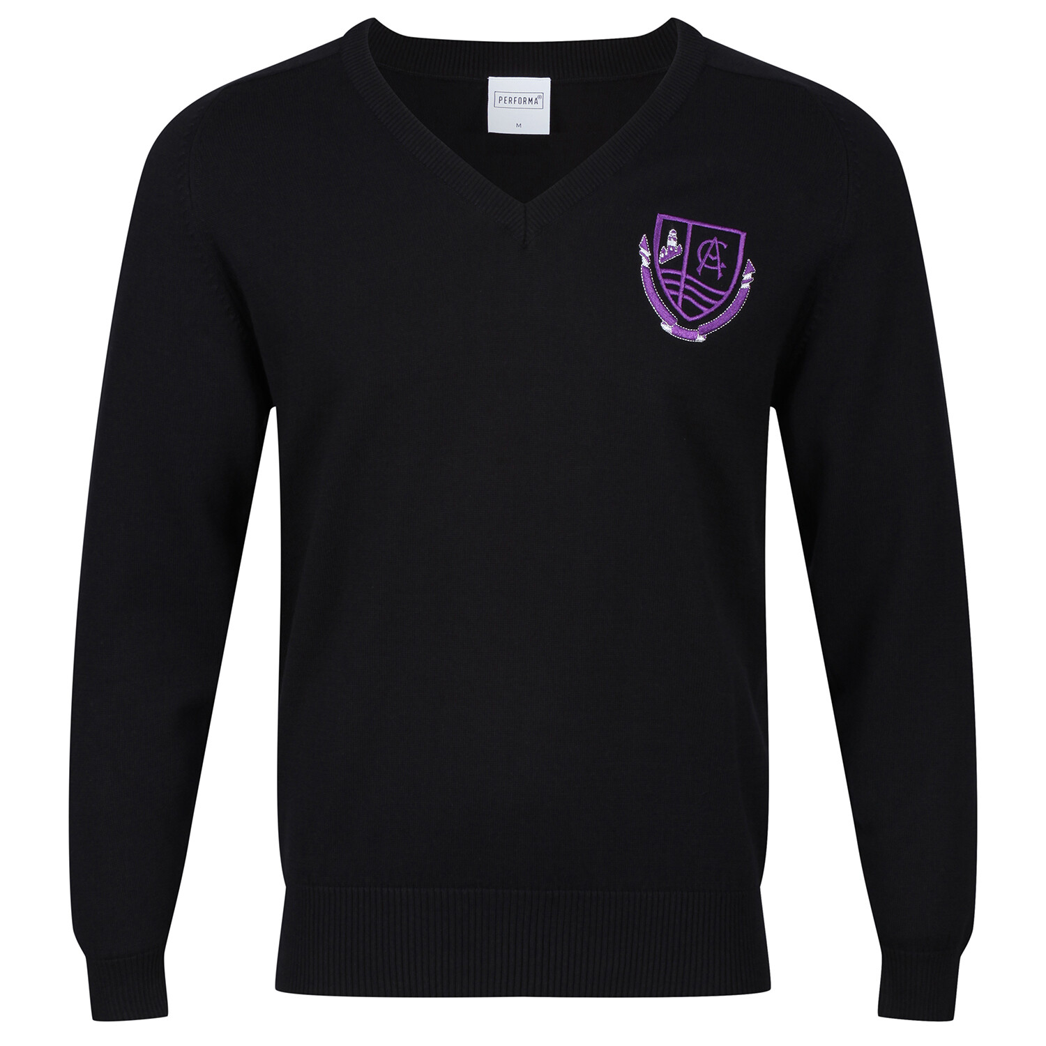 Clydeview Academy Knitted V-neck (no stripe)