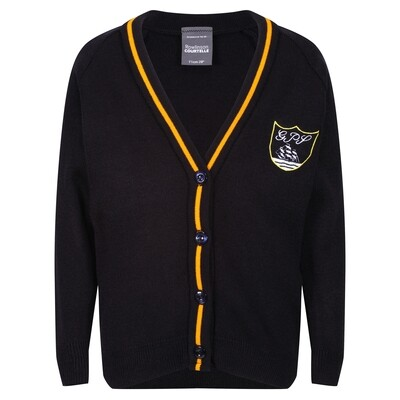 Gourock Primary Knitted Cardigan with stripe