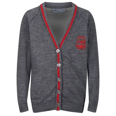 Inverkip Primary Knitted Cardigan with stripe