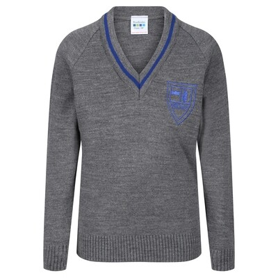 King's Oak Primary Knitted V-neck with stripe