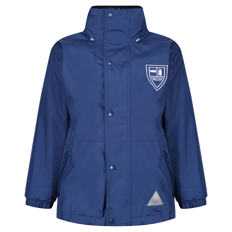 King's Oak Primary Heavy Rain Jacket (Fleece lined)
