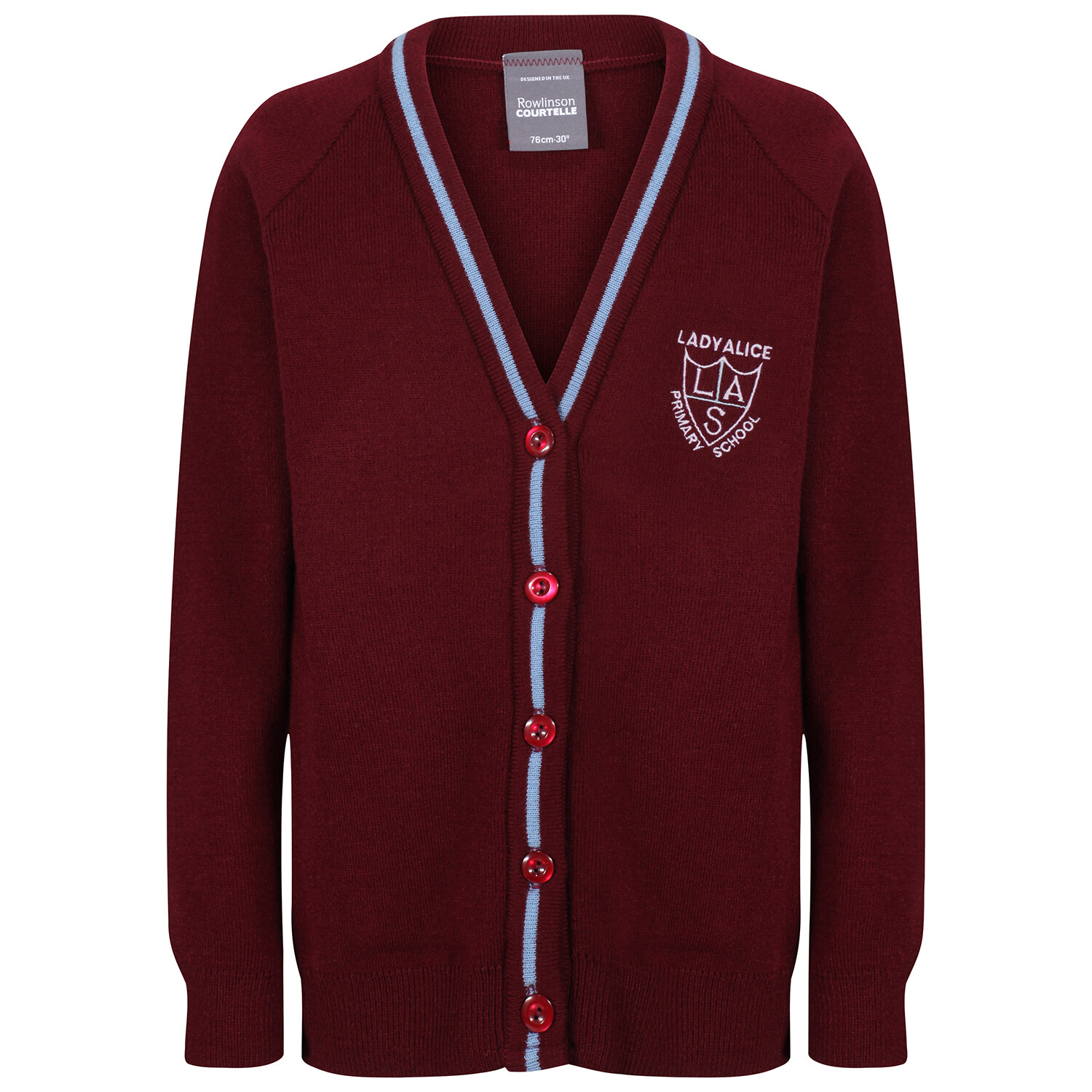 Lady Alice Primary Knitted Cardigan with stripe