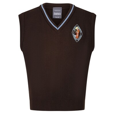 St Francis Primary Knitted Tank Top with stripe