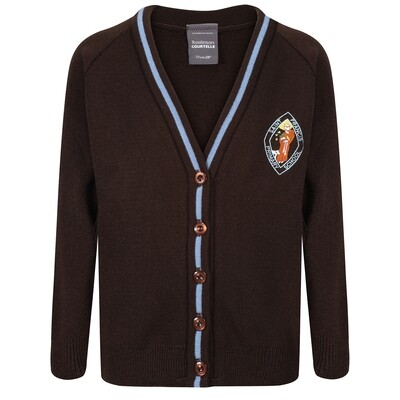 St Francis Primary Knitted Cardigan with stripe
