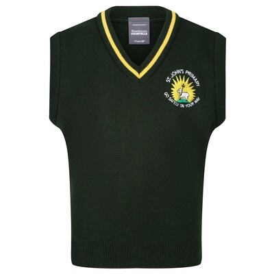 St John's Primary Knitted Tank Top with stripe