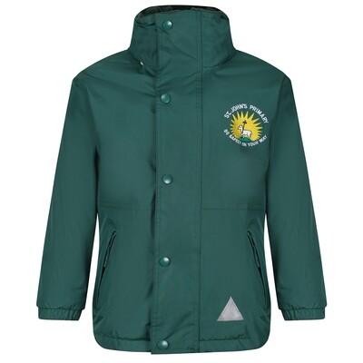 St John's Primary Staff Heavy Rain Jacket (Fleece lined)