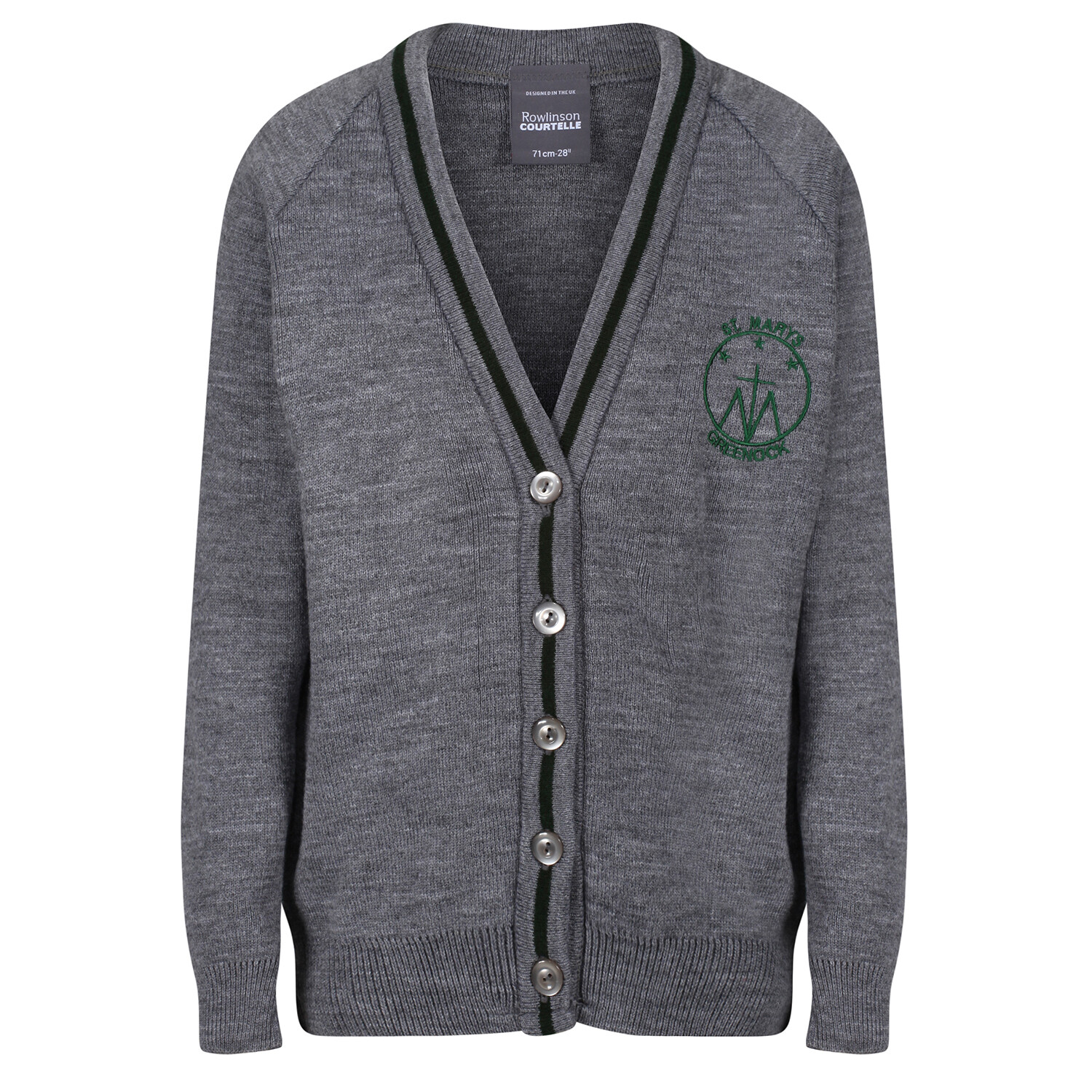 St Mary's Primary Knitted Cardigan with stripe