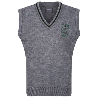 St Mary's Primary Knitted Tank Top with stripe