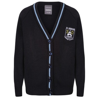 St Ninian's Primary Knitted Cardigan with stripe