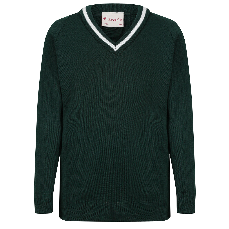St Columba's School Knitted 'Wool' V-Neck Jumper
