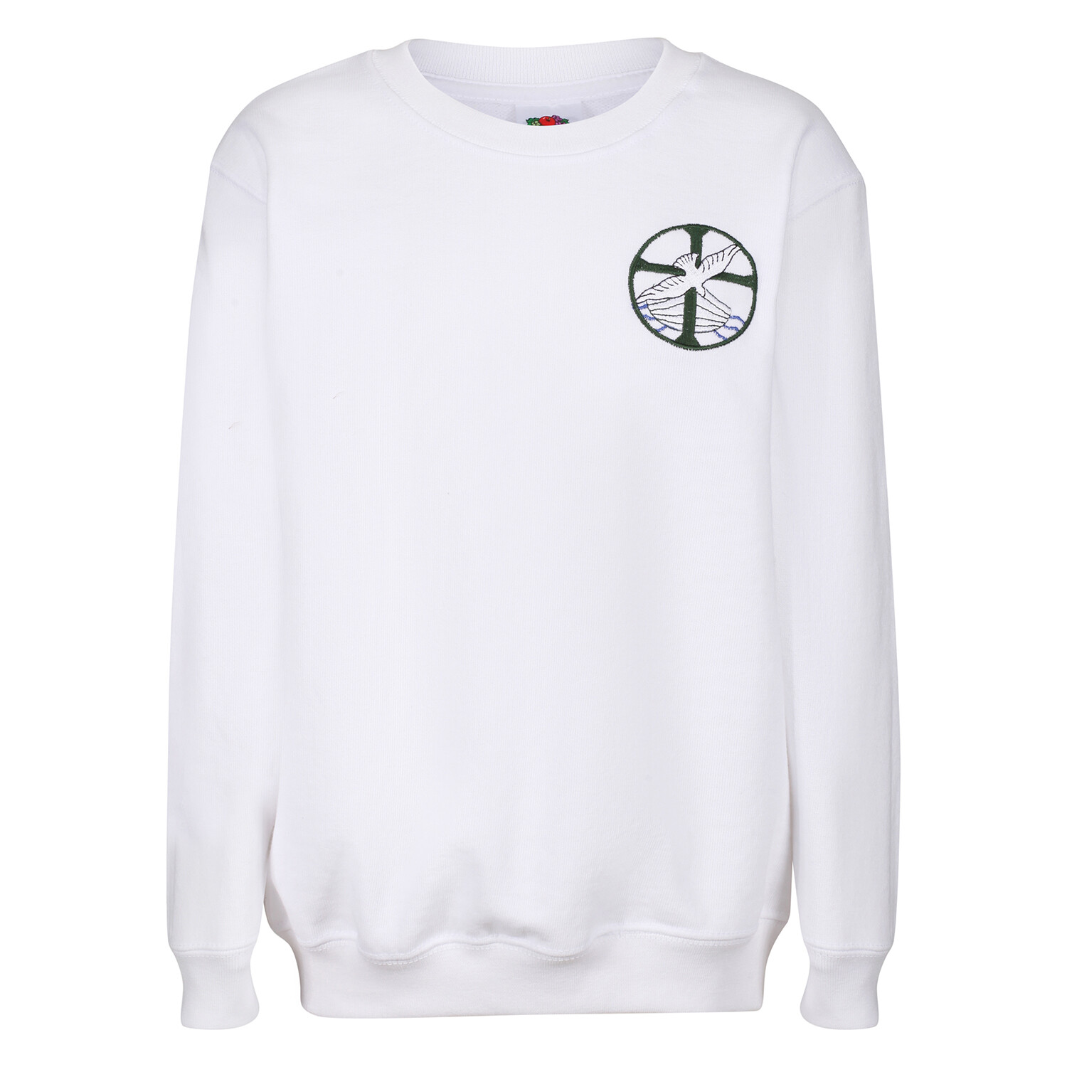 St Columba's Junior School Girls PE Sweatshirt in White (Girls Early Years-J3)