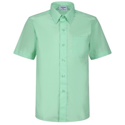 Short Sleeve Blouse for Girls in Green (Age 3-4 to Chest 42')