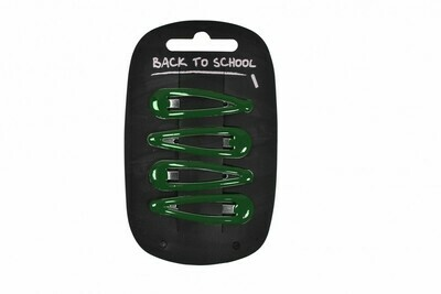 Click Clack Hair Clips (Packs of 4) (In Bottle Green)