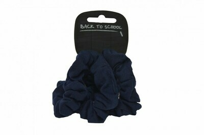 Scrunchies (Pack of 4) (In Navy)