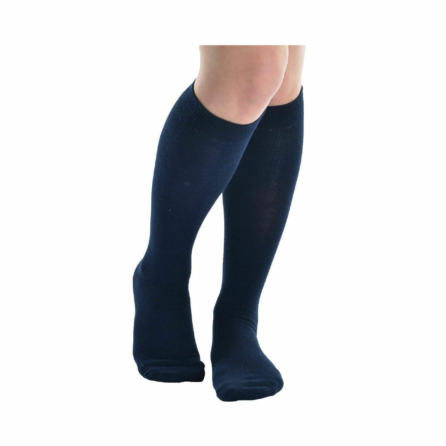 Girls Knee High Socks by Pex in Navy (2 Pair Packs) 'Best Seller'